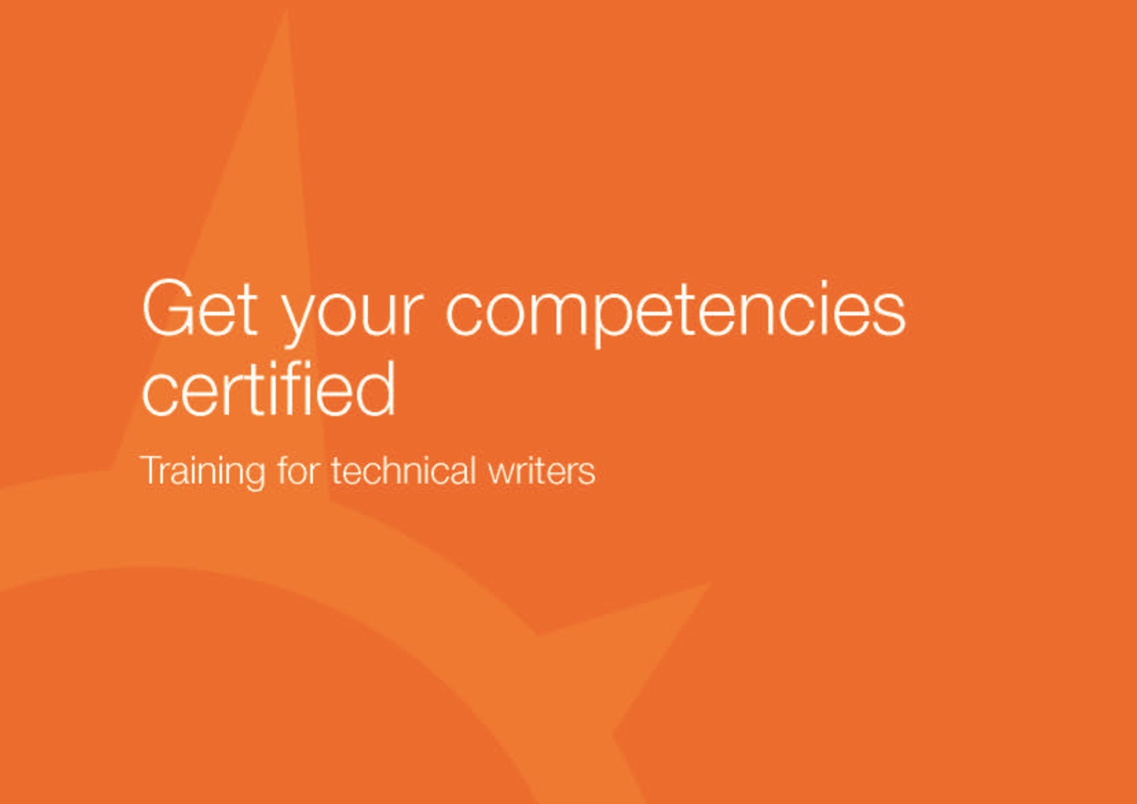 product sheet on training for technical writers